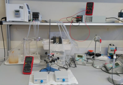 Laboratory scale electrodialysis system