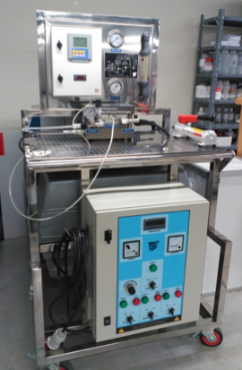 Laboratory scale cross flow stainless steel test units for flat-sheet membranes
